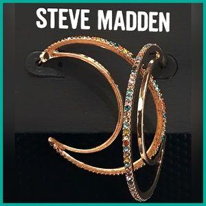 🏷 NEW Steve Madden Crescent Hoop Earrings